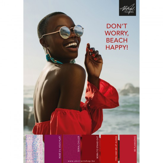 Poster A2 Don't Worry Beach Happy Collection