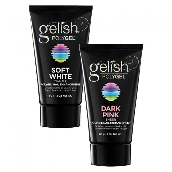 Soft White 60ml + GRATIS Dark Pink 60ml PolyGel